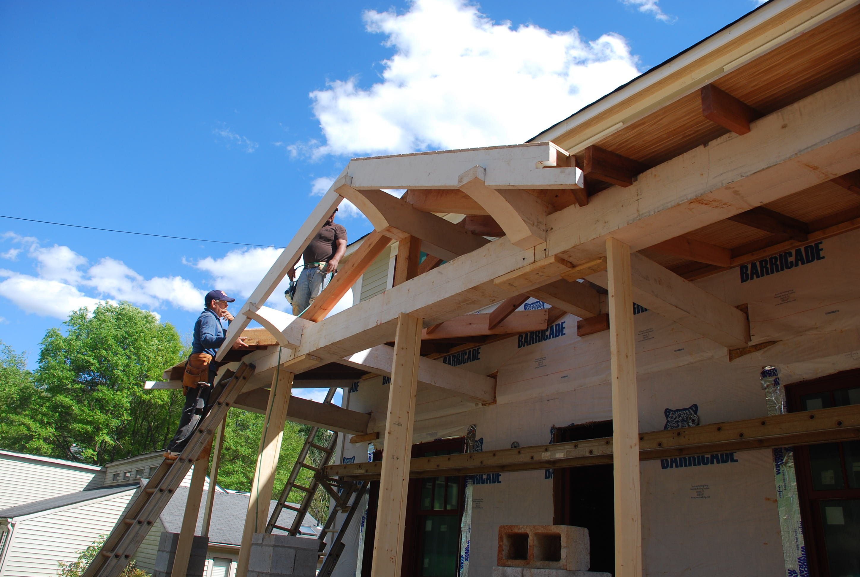 A Lot To Recap For This Week U2013 Starting With The Roof Framing For The Front  Porch. Early In The Week We Arrived At The House As The Crew Was Setting  The ...